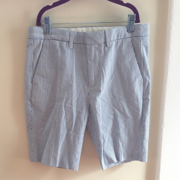 ed40c6718 Crewcuts Bottoms | J Crew Boys Ludlow Blue Seersucker Suit Short ...